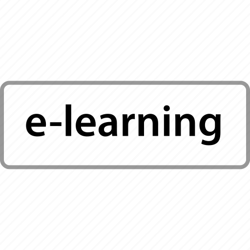 elearning, online, sign, web study icon