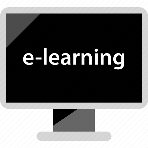 elearning, electronic, learning, online icon