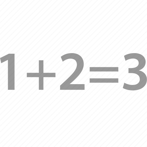 elementary, formula, math, problem icon