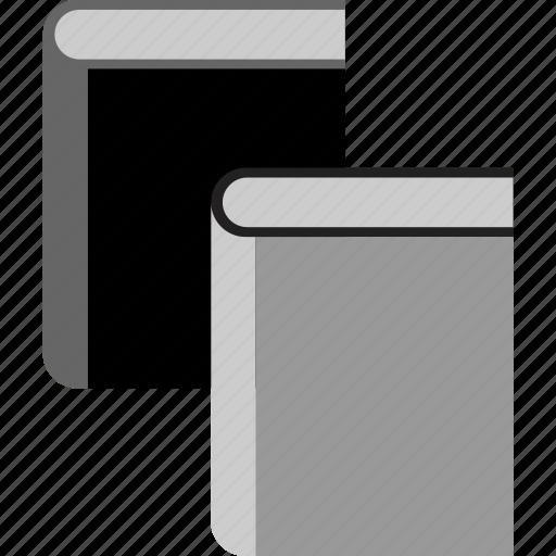 books, comparison, study, two icon