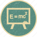 education, formula, learning, study icon