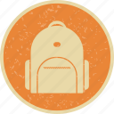 bag, bag pack, school, student bag icon