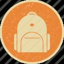 bag, bag pack, student bag icon