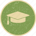 degree, diploma, graduation, graduation cap icon