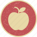 apple, education, food, fruit icon