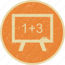 black board, calculation, math, mathematics icon