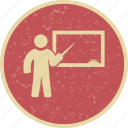 teacher, teaching, white board icon