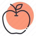apple, carbs, diet, food, fruit, healthy, nutrition icon