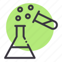 beaker, chemistry, erlenmeyer, experiment, laboratory, research, test tube icon