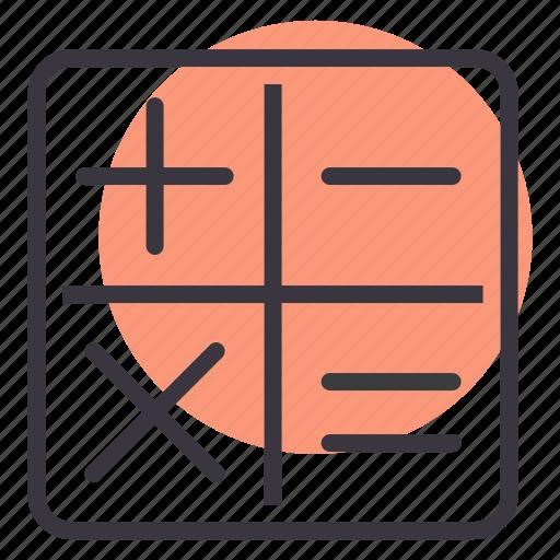 app, calculate, calculator, compute, education, math, work icon