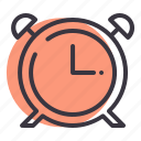 timepiece, clock, alarm, toll, timer, time, ring icon