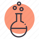 chemistry, conical, experiment, flask, lab, laboratory, research icon