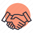 congratulations, cooperation, deal, education, hands, partnership, shake icon