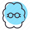 brain, geek, idea, invention, nerd, smart, think icon