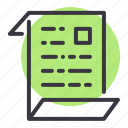 article, document, file, journal, letter, paper, report icon