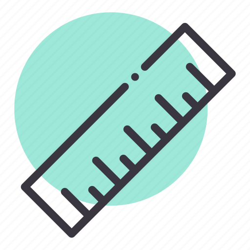 education, measure, measurement, ruler, scale, stationery, tool icon