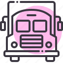 bus, education, school, student, transport, travel, van icon