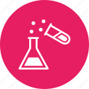 beaker, erlenmeyer, experiment, flask, laboratory, research, test tube icon