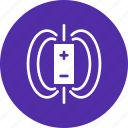 charge, electromagnetic, field, magnet, magnetic, negative, positive icon