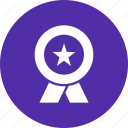 achievement, champion, honor, medal, prize, ribbon, winner icon
