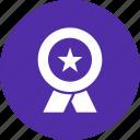 achievement, champion, honor, medal, prize, ribbon, winner