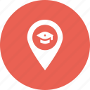 college, graduation, location, marker, pin, school, university