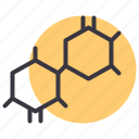 bond, cell, chain, chemistry, education, molecule, structure icon