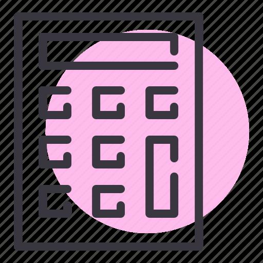 calculate, calculator, compute, device, math, office, statinoery icon