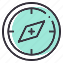 compass, device, direction, nautical, navigation, pin