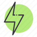 battery, charge, electricity, energy, flash, lightning, power icon