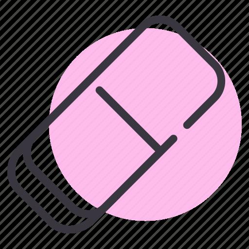 erase, eraser, rubber, school, stationery icon