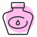 bottle, ink, office, school, stationery, write icon