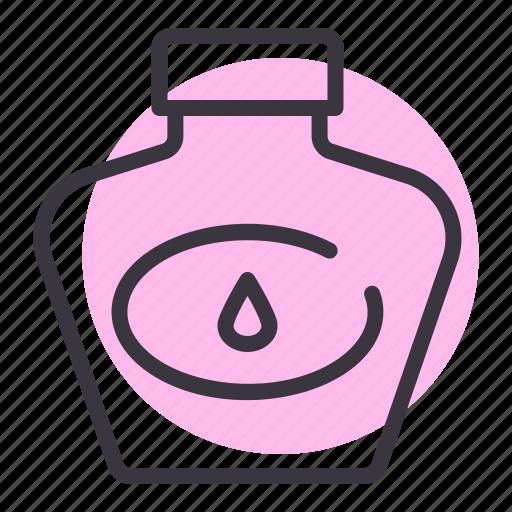 bottle, ink, office, school, stationery, write icon