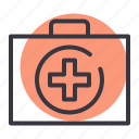 aid, doctor, emergency, first, health, medical, medikit icon