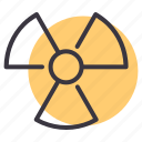 alert, caution, danger, hazard, nuclear, radiation, warning icon