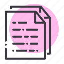 document, file, notes, office, paper, report, stationery icon