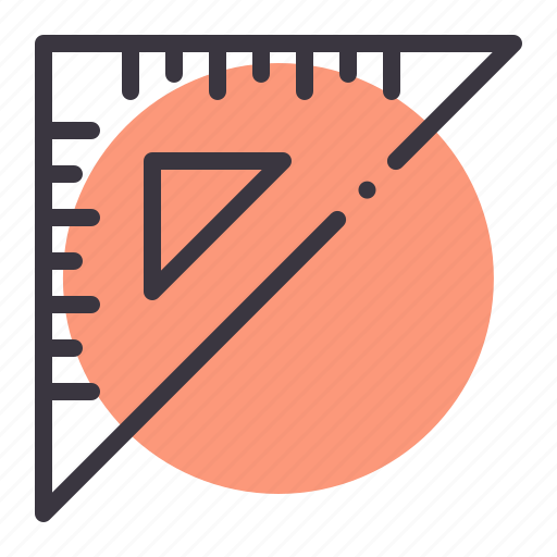 education, measure, measurement, ruler, scale, stationery icon