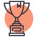 achievement, champion, cup, prize, trophy, winner, won icon