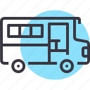 bus, education, school, transport, travel, van, vehicle icon