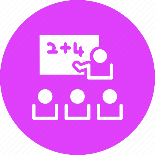 Board, class, classroom, education, school, students, teacher icon - Download on Iconfinder