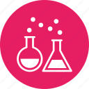 beaker, conical, erlenmeyer, flask, lab, research, test icon