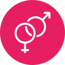 biology, education, female, gender, male, reproduction, sex icon