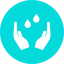 care, drops, eco, ecology, environment, save, water icon