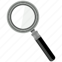 magnifier, search, seo, zoom icon