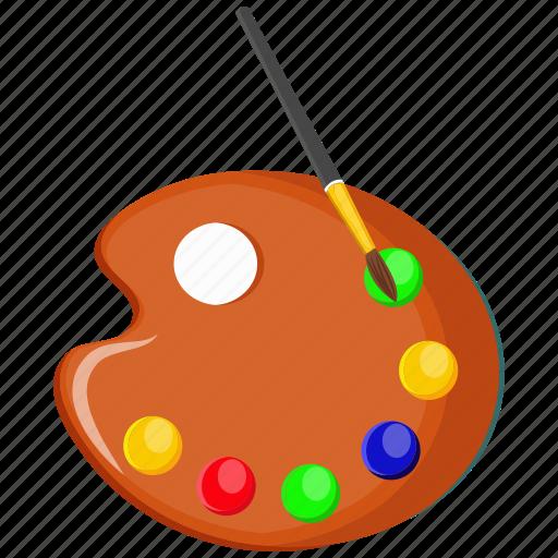 art, color plate, paintbrush icon