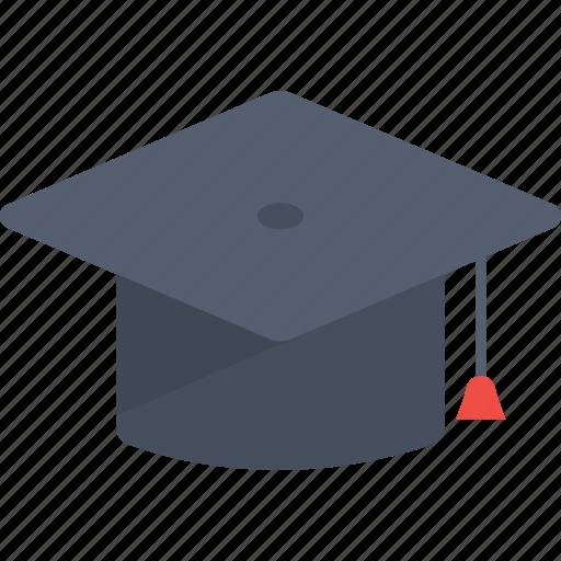 education, graduation, graduation hat, hat, student, study icon icon