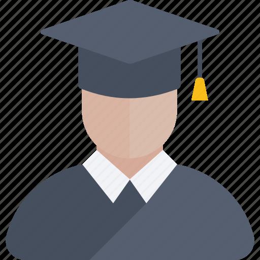 avatar, boy, education, graduation, man, school, study icon icon