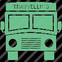 bus, public, transport, transportation, travel, traveling, vacation icon