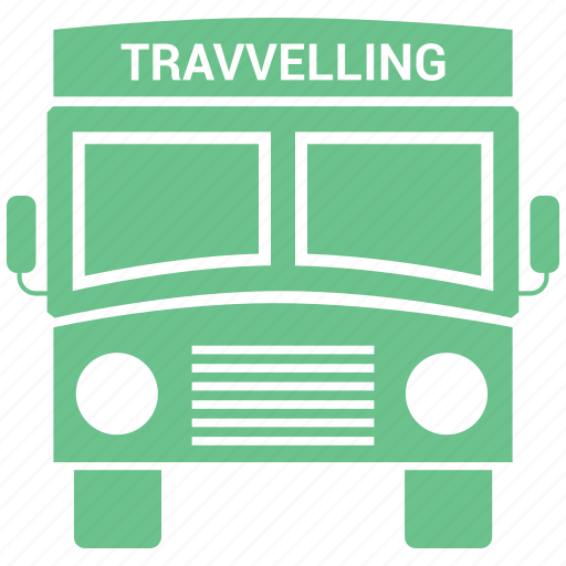 bus, public, transport, transportation, travel, traveling, vacation icon
