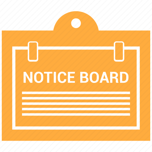 board, notice, noticeboard icon